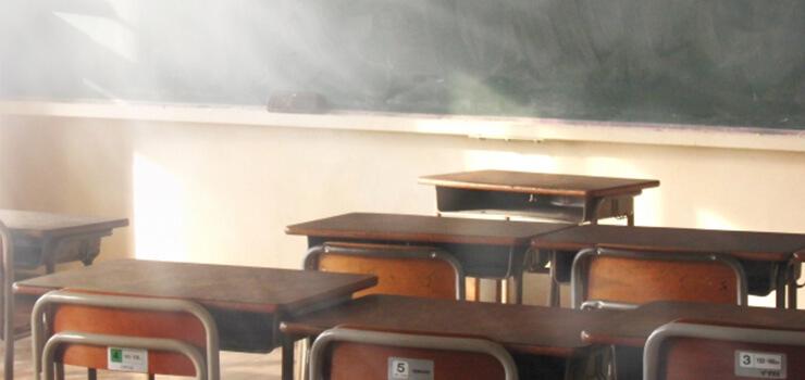 教育施設のカメラ設置例