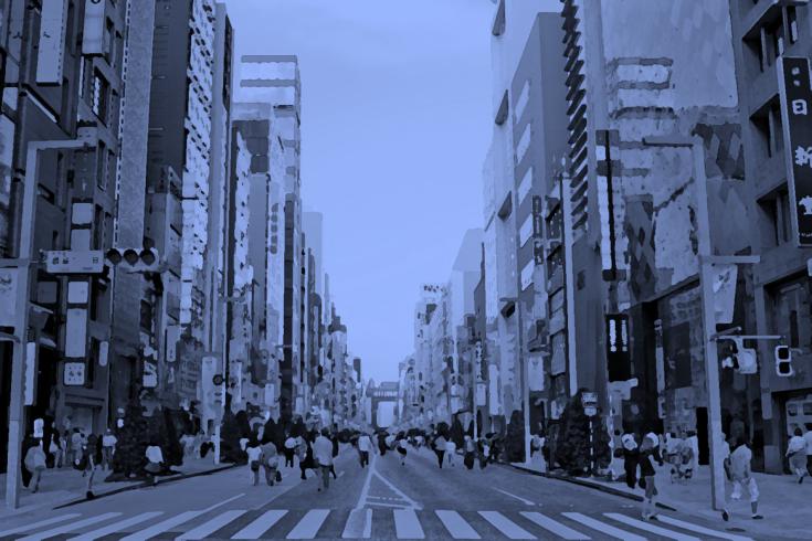 人通りが多い場所も危険だというイメージの写真