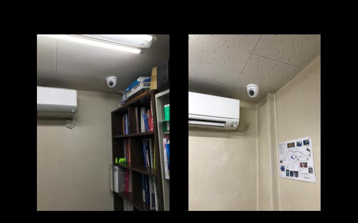 某学校の室内にAHDカメラを設置した例