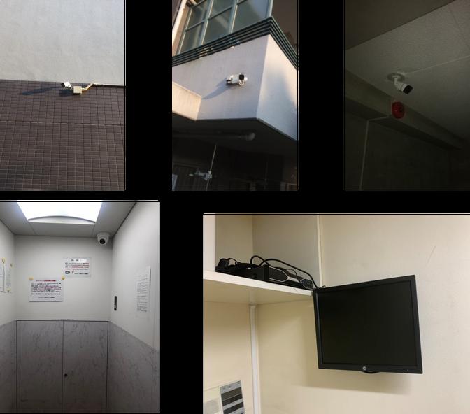 横浜市にあるマンションの防犯カメラ一部